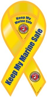 Safe Ribbon Magnet - Keep My Marine Safe Ribbon Magnet