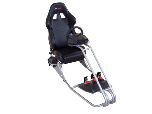31upfNknL5L - GTR-Simulator-GTS-Model-with-Adjustable-Racing-Seat-Driving-Racing-Simulator-Cockpit-with-Gear-Shifter-Mount