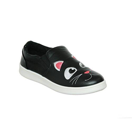 Womens Animal Themed Slip-On Loafer Fashion Sneaker Blkcrp hviJFsIu