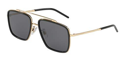 Dolce & Gabbana Men's DG2220 Gold/Black/Polarized Grey One Size (Dolce Gabbana Sonnenbrille Herren)