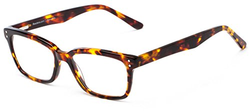 Readers.com The Chandler +3.00 Tortoise Colorful Retro Square Premium Acetate Reading - Chandler Square Fashion