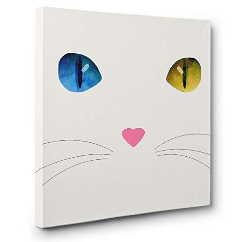White Cat Heterochromia CANVAS Wall Art