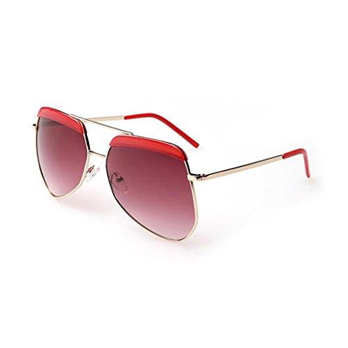 Ms Lunettes Inspiré Haute soleil Rouge de Miroir Designer Mode GAOLIXIA Polarisé Métal n4xO0wqw8