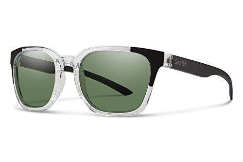 Smith Optics Founder Chromapop Polarized Sunglasses, Crystal Black Block, Gray Green