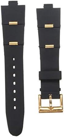 GOZAR Oro Y Oro Rosa Sílice Gel Reloj Banda Watch Correa para Reloj Bvlgari-Gold-22Mm