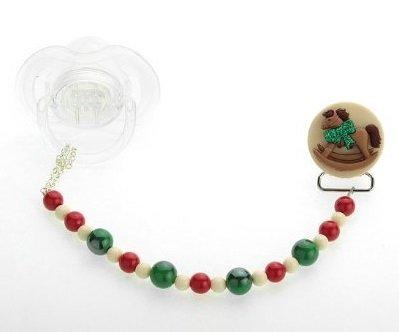 Cristal sueño elegante Festive rojo y verde Navidad Clip ...