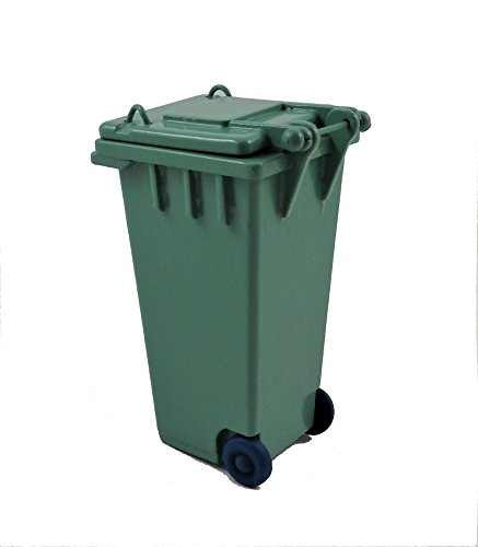 Melody Jane Dollhouse Green Wheelie Bin Recycling Garden Street Accessory ()
