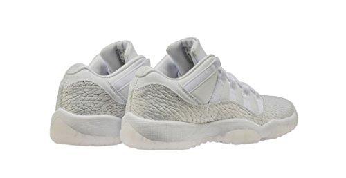 Nike Air Jordan 11 Ret Låg Pr Hc Flickor Fashion-gymnastikskor 897331-100_8y - Vit / Vit-ren Platina