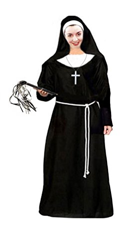 Plus Size Deluxe Nun Costumes - Sanctuarie Designs Women's Nun Deluxe Kit Plus Size Supersize Halloween Costume Dress Kit/1xT/Black/