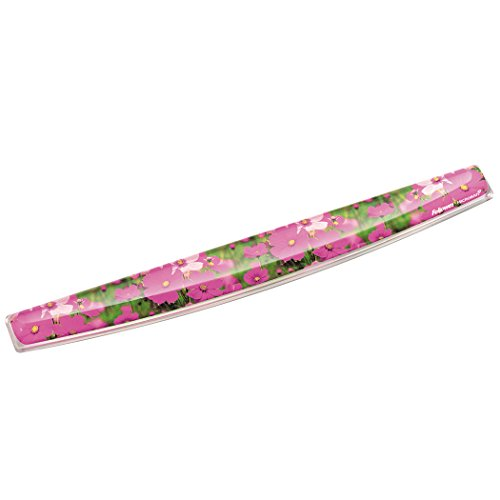 (Fellowes Photo Gel Keyboard Wrist Rest with Microban Protection, Pink Flowers (9179101))