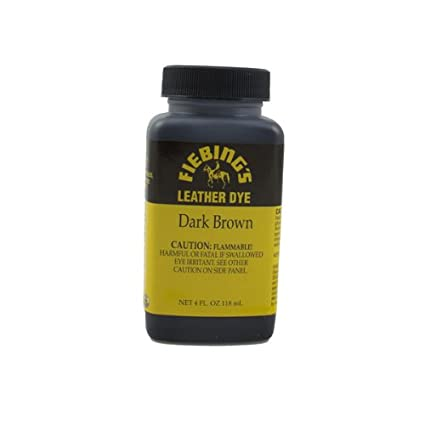 Amazon.com: Fiebing\'s Dark Brown Leather Dye 4oz: Arts, Crafts & Sewing