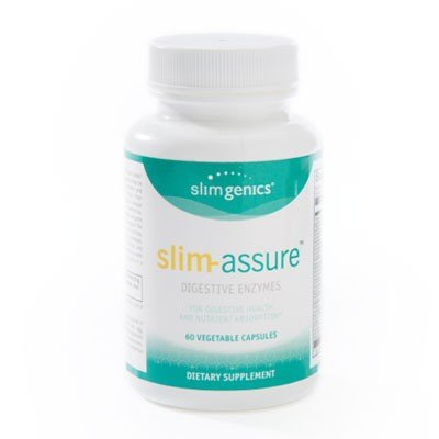 SlimGenics Slim-Assure | Digestive Enzymes - Helps Relieve Gas & Bloating - Gluten & Soy Free - Designed to Alleviate IBS Symptoms and Aid in Digestion - 60 ct