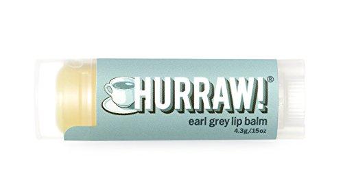 HURRAW! Earl Grey Lip Balm: Organic, Certified Vegan, Certified Cruelty Free, Non-GMO, Gluten Free, All Natural – Luxury Lip Balm Made in the USA – EARL GREY