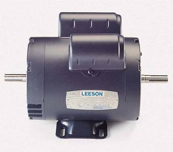 1 hp 3450 RPM 115/208-230V Double Shafted Power Tool Motor Leeson Electric Motor # 114216 by Leeson