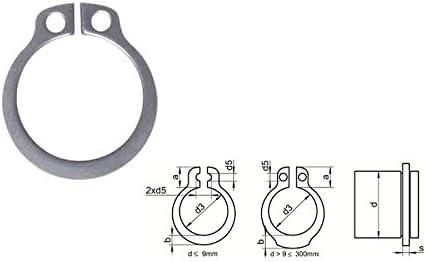10 Stk Sicherungsring f Wellen DIN 471 EDELSTAHL A2 V2A A 7X0,8 mm