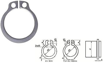 Reidl Sicherungsringe f/ür Wellen 50 x 2 mm DIN 471 Stahl blank 10 St/ück
