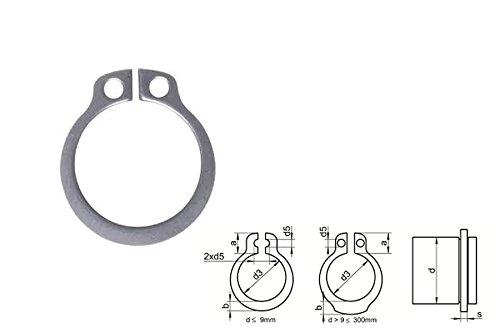 Seeger-Ring original Sicherungsringe ge/ölt phosph DIN 471 Typ A 8X0,80 Federstahl Fst 10 St/ück