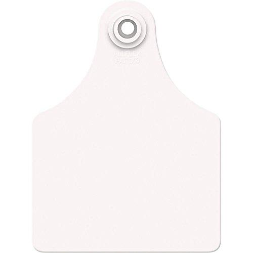 Allflex Usa GXF/GSMW 319281 Ear Tag, Blank, White, Maxi