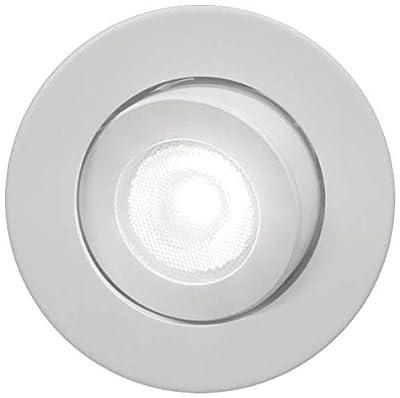 NICOR Lighting 2-Inch Dimmable 4000K LED Gimbal Downlight for NICOR 2-Inch Recessed Housings, White (DLG2-10-120-4K-WH)