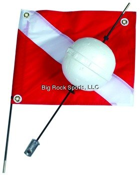 (Marine Sports 4668 Flag/Float Combo, 2 Piece, with Round Ball Float)