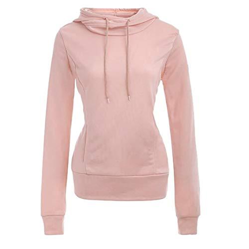 E Felpe Maniche Con Lunghe Cappuccio Donna magliette Rosa Styledresser Da Donna Pullover maglioni Invernale v8qWw6