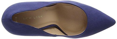 Zapatos para Yummy New Azul Cerrada con 41 Punta Navy Look de Mujer tacón w6ax85Eqa