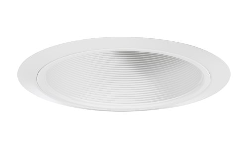 Juno Lighting 25W-WH 6-Inch Straight Downlight Baffle White with White Trim