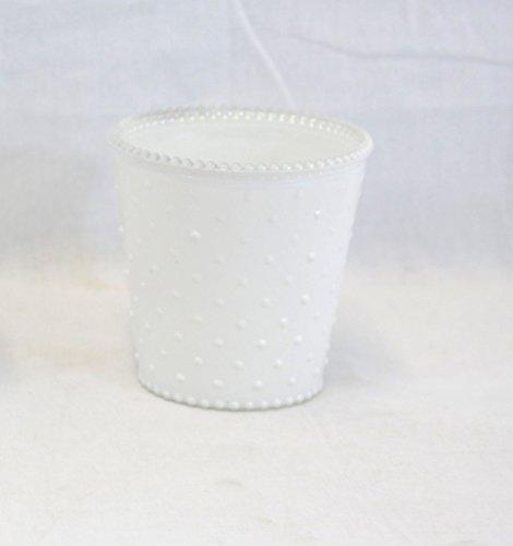 Large White Hobnail Glass Jar - Set Of 3 ()