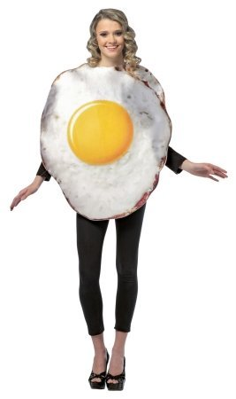 Get Real Fried Egg Costume - One Size - Chest Size 42-48