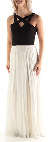 CRYSTAL DOLLS $34 Womens New 2987 Ivory Black Cut Out A-Line Dress 7 Junior B+B (Crystal Doll Juniors Cutout A Line Dress)