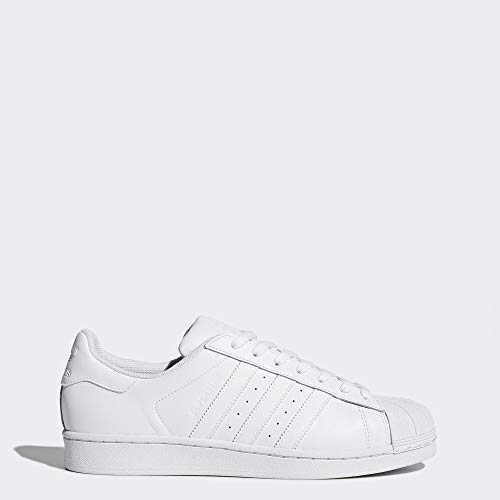 adidas Originals Men's Superstar Shoe Running White, 7.5 D(M) US (Best Low Top White Sneakers)