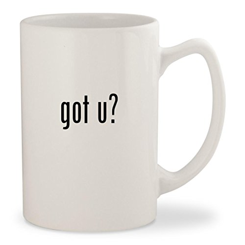 got u? - White 14oz Ceramic Statesman Coffee Mug Cup