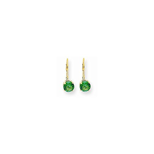 14k 6 Mm Mount (14k 6mm Mount St. Helens Leverback Earrings)