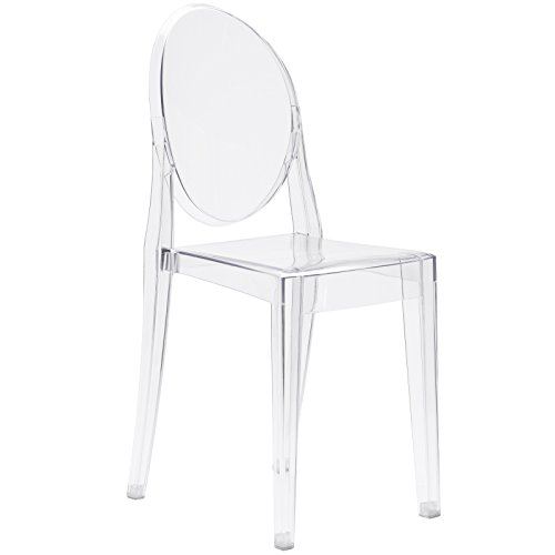 Poly and Bark Ghost Style Dining Side Chair, Clear