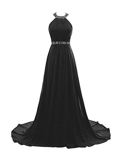 Sequins Halter Prom Formal Dress - 7
