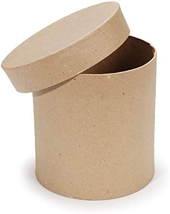 Darice Paper Mache Round Box Set 4 Inches 5 Inches and 6 Inches 2 Pack