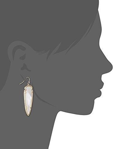 Kendra Scott Signature Skylar Drop Earrings in Ivory & 14k Gold Plated