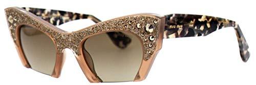 - Miu Miu MU02QS TV01X1 Sunglasses Brown Cat-Eye 50mm