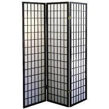 Coaster Oriental Style 4-Panel Room Screen Divider, Black Framed (Black, 3 Panel)