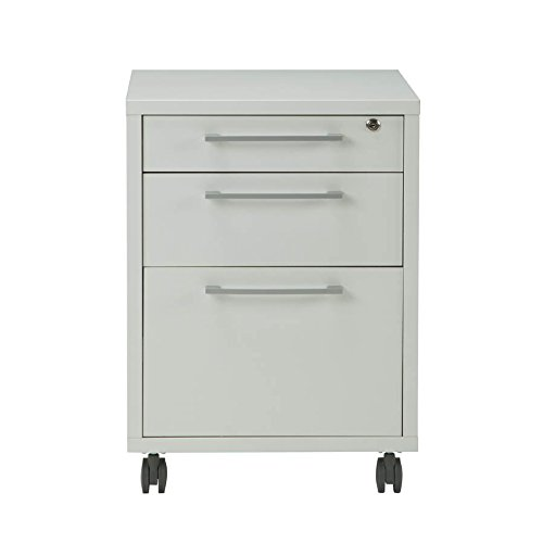 Tvilum 8041849 Pierce 3 Drawer Mobile File Cabinet, White (Cabinet File Nightstand)