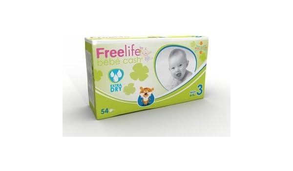 Baby Pañales - bbcash freelife - 3 - Midi (4 - 9 kg) - pzn 09061138 - (108 unidades): Amazon.es: Salud y cuidado personal