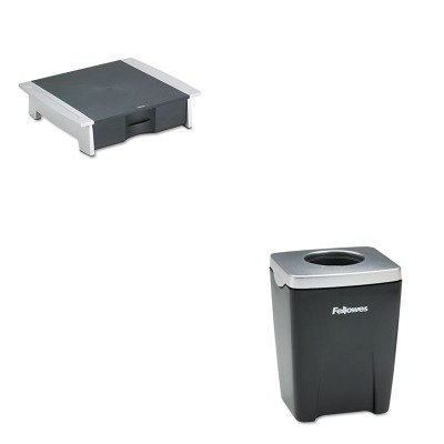 KITFEL8032601FEL8032801 - Value Kit - Fellowes Printer/Fax Machine Stand (FEL8032601) and Fellowes Office Suites Paper Clip Cup (FEL8032801)