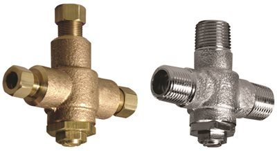 POWERS PROCESS CONTROLS LFE480-00 Under Counter Thermostatic Mixing Valve, 1/2'' Npt, Rough Bronze, Lead Free