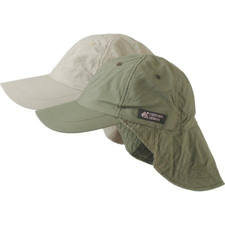 Dorfman Pacific Co. Men's Supplex Flap Fisher Cap, Khaki, One Size