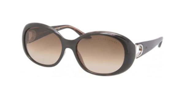d7a45f2f1da Amazon.com  Ralph Lauren Sunglasses 517513 Dark Havana Brown Gradient 56 16  135  Shoes