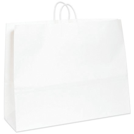 Duro Magnum Shopping Bag, White Paper, 18-3/4''x24''x7-1/4'' 125 ct, ID# 81289 (BGS112W) by Duro