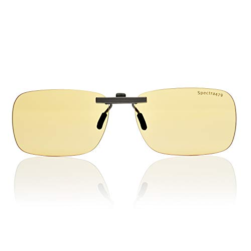 Clip-on Blue Light Reducing Lenses for Daytime Screen and Gaming Use - Relax Your Eyes (Daytime ()