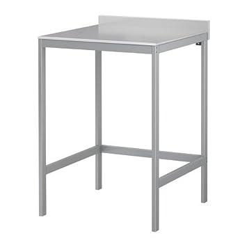 udden ikea table de 64 x 64 cm en acier inoxydable