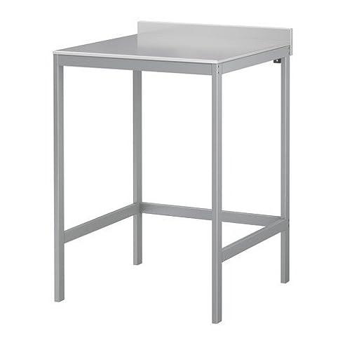 IKEA UDDEN Arbeitstisch 64x64 cm Edelstahl: Amazon.de: Küche ...
