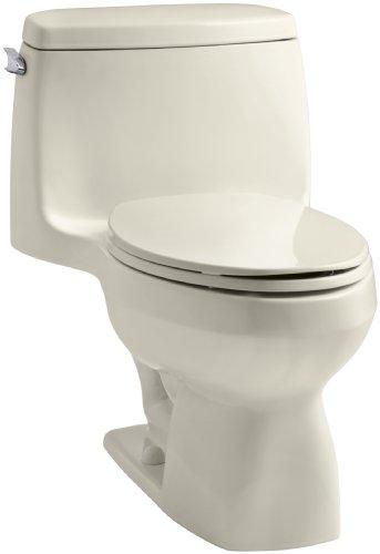 KOHLER K-3323-47 Santa Rosa Compact Elongated One-Piece Toilet, Almond